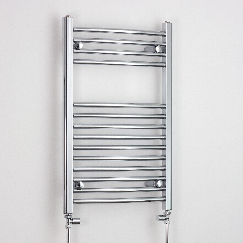 800 X 400 Chrome Sèche-serviettes Radiateur Plat Courbé électrique gaz ou salle de bain