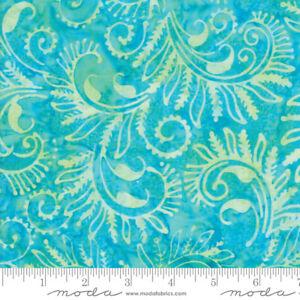 Bahama-Batiks-Moda-cotton-batik-fabric-by-half-yard-Surf-4352-13-turquoise