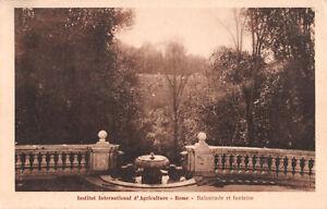 R279831 Rome. Balustrade et Fontaine. Institut international d agriculture. Dane