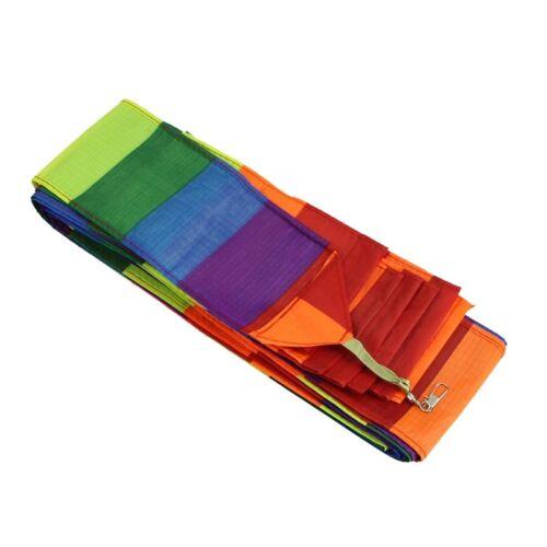 Super Nylon Stunt Rainbow Kite Tail Line Kite Accessory Kids Toy A8B9 5X