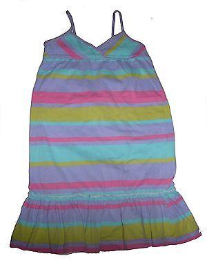 Contemplativo H & M Fantastico Abito Taglia 98/104 Viola-rosa-giallo-mint A Strisce!!!--mint Gestreift !! It-it Mostra Il Titolo Originale