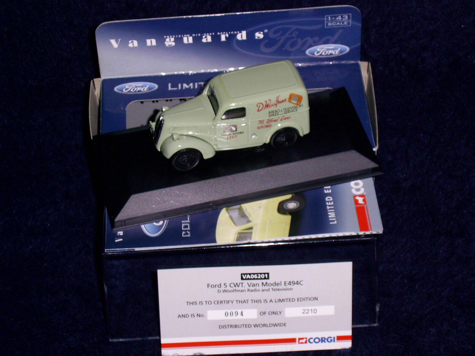 VA06201 CORGI/HORNBY Vanguards Ford Ford Ford 5 CWT Van modèle E494C dwoolfFemme Radio/tvnew. | Matière Choisie  6ed990