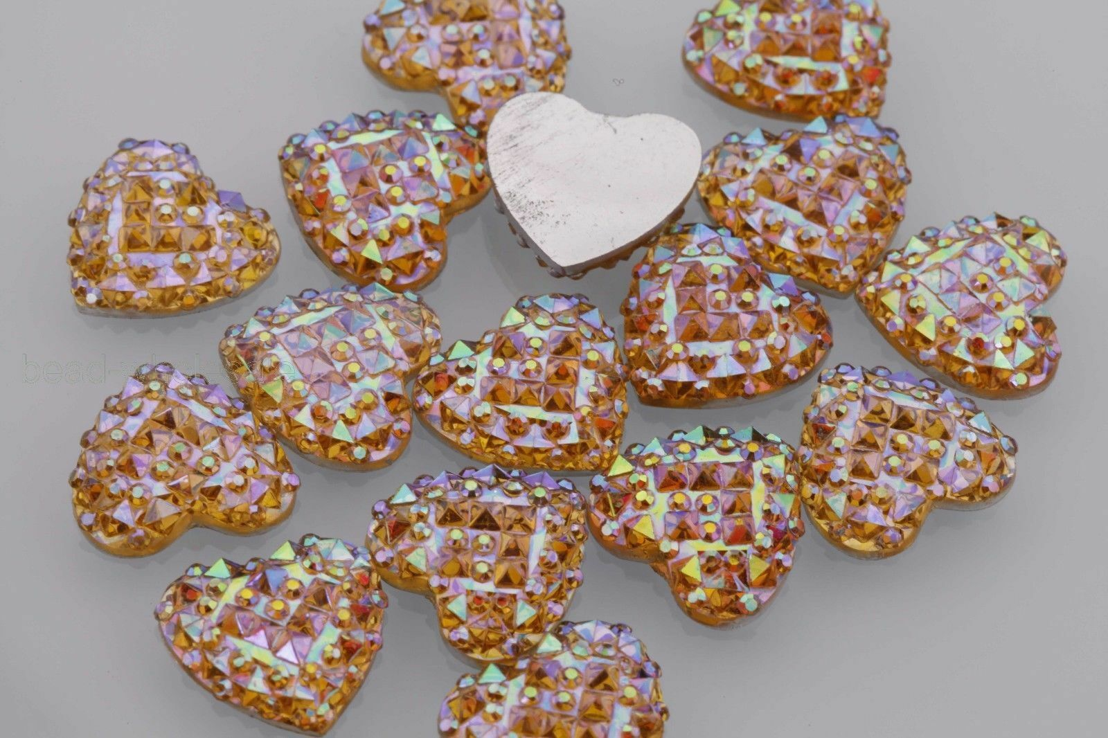 40pcs MIX  12mm AB Resin heart snowflake flatback Scrapbooking for phone//crafts