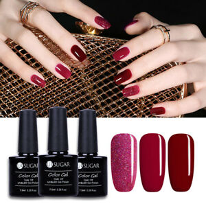 Image Is Loading 3x Party Red Gel Nail Polish Kit Uv