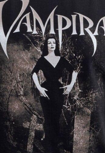 Para Hombre Vampira Camiseta Cementerio Halloween Horror Vintage Gótico Vampiro S 5XL