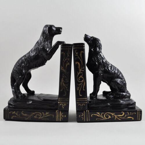 GOLDEN Retriever cane REGGILIBRI Bronzo Scultura Statua figura in piedi NUOVO 01731