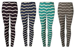 Women-039-s-new-stretch-knitted-stripe-woolly-novelty-legging-plus-size-14-to-22