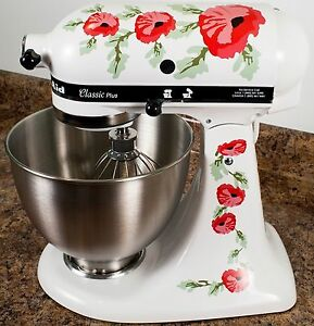 Phenomenal Details About Red Poppy Flowers Watercolor Kitchenaid Mixer Mixing Machine Decal Art Wrap Interior Design Ideas Gresisoteloinfo