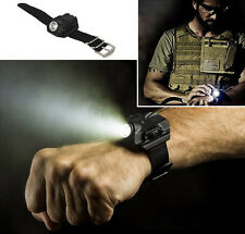 Q5 Tactical Rechargeable Wrist Watch 500LM LED Flashlight Torch Compass Light