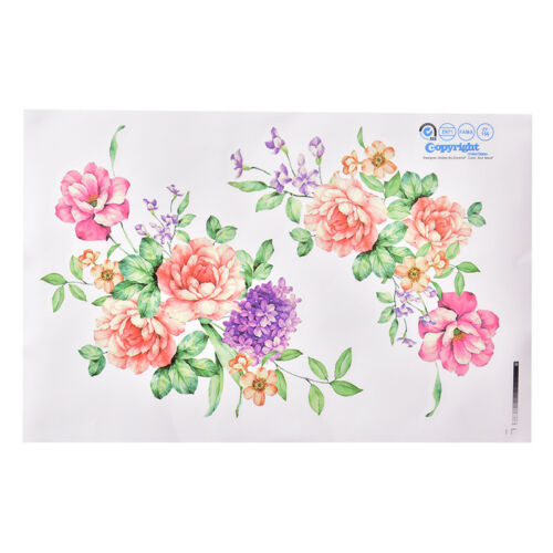Peony Flowers Luxury Wall Stickers Art Home Decor PVC Removable Vinyl Decal_B$