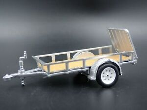 UTILITY-TRAILER-RUBBER-TIRES-with-WORKING-RAMPS-1-64-SCALE-DIORAMA-DIECAST-MODEL