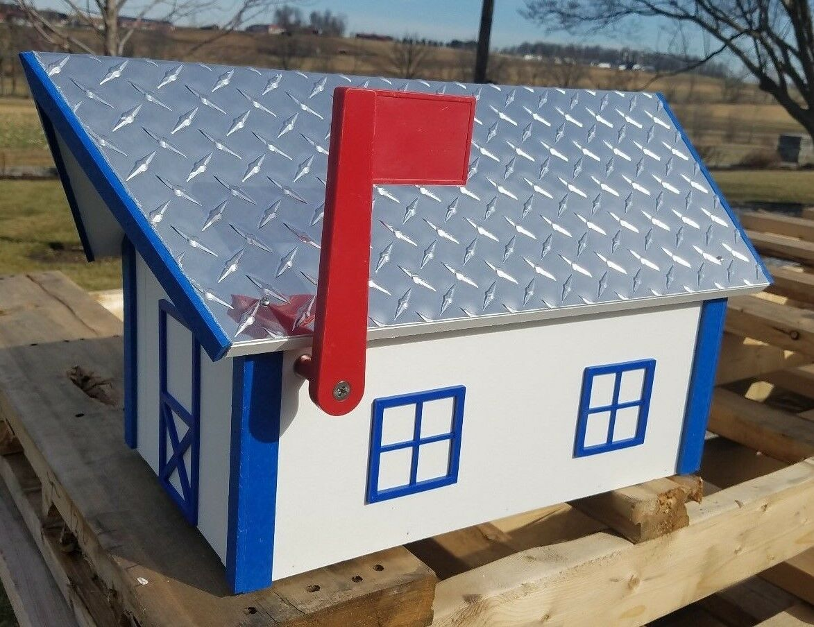 Amish Crafted Deluxe  Aluminum Diamond Plate Roof  Mailbox - Lancaster, PA