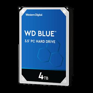 HARD DISK 3,5 WESTERN DIGITAL CAVIAR BLU 4TB SATA3 256MB 4000GB WD40EZAZ 5400rpm