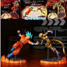 2Pcs Figurine Golden Freezer VS Goku SS 15 cm Dragon Ball Z Resurection In Box