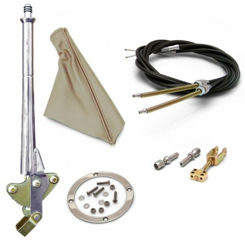 Silver Ring and Cable Kit hot 11 Trans Mnt Emergency Hand Brake  Tan Boot