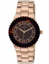 New Guess Women's Rose Gold Tone Plated Stainless Steel Watch - W0468L1