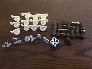 Lot-Dogopoly-Monopoly-Pewter-Game-Replacement-Pieces-Metal-Tokens-Movers