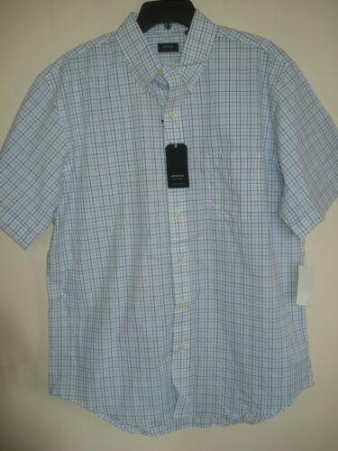 Mens Shirt Plaid Size Large  Arrow Blue