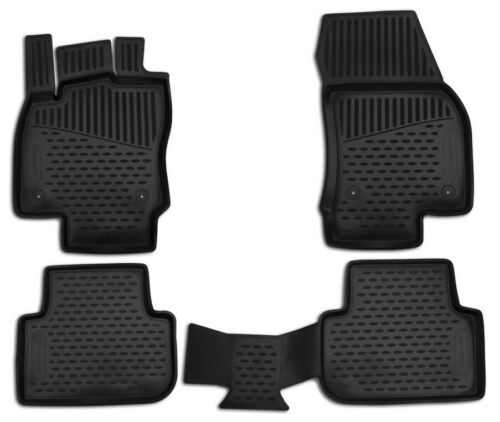Gummimatten Passgenaue Fußmatten für VW Tiguan II MK2  Kurzer Radstand 2016
