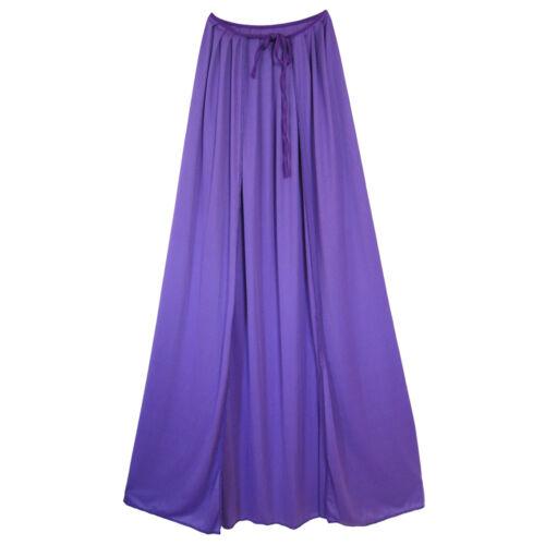 """MEDIEVAL COSTUME MARDI GRAS 48/"""" Adult Purple Cape ~ HALLOWEEN SUPERHERO KING"""