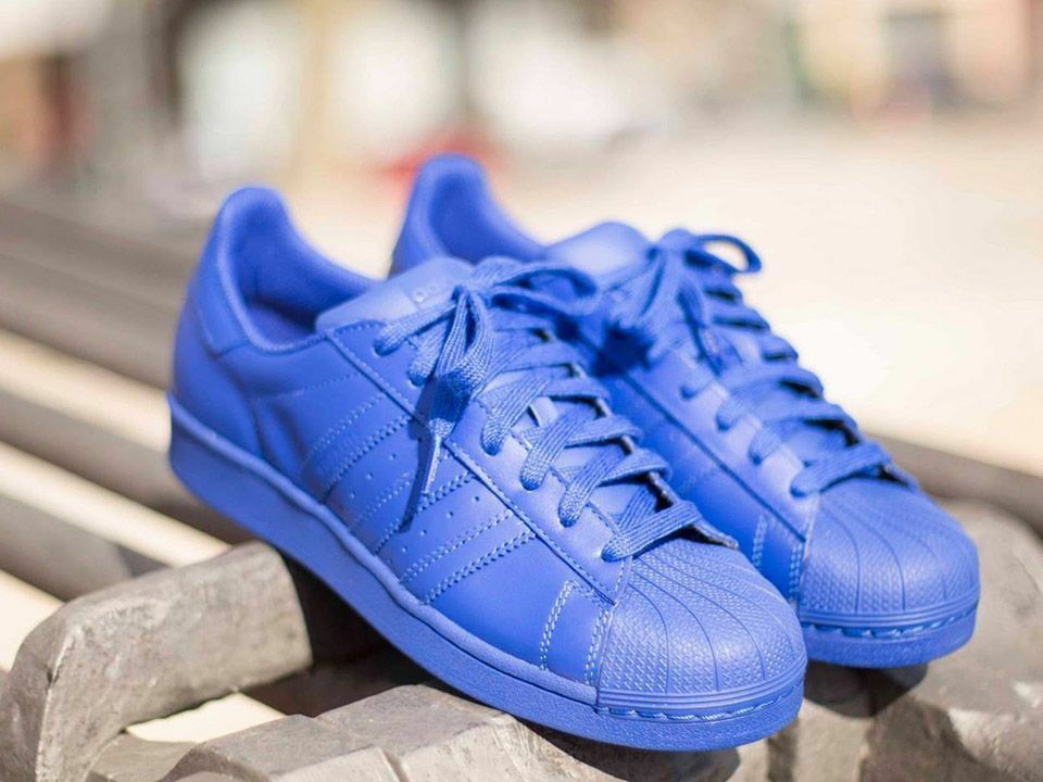 Adidas pharrell williams supercolor superstar scarpe blu blu blu noi 10,5 11,5 a636fd