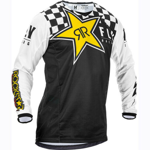 Offroad//Motocross Fly Racing Kinetic Jersey Rockstar Black//White//Yellow 373-033*