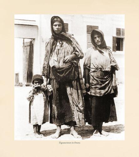 Zigeunerinnen in Orsova Donau Eisernes Tor Karpaten Zigeunerkind K/&K Photo 22