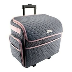 Image Is Loading Sewing Machine Case On Wheels Rolling Tote Carrying