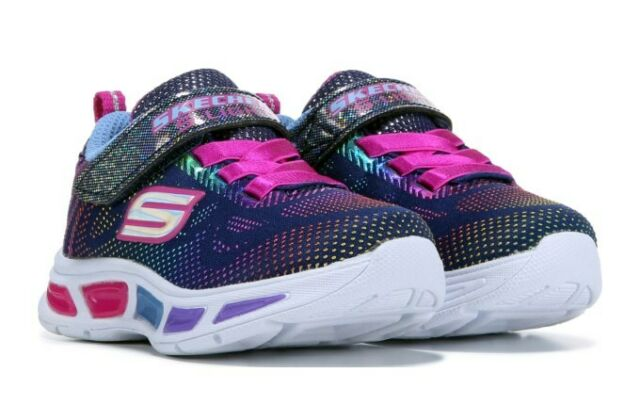 Skechers Kids Blue/Purple Gleam & Dream Light Up Toddler Shoes Size 10