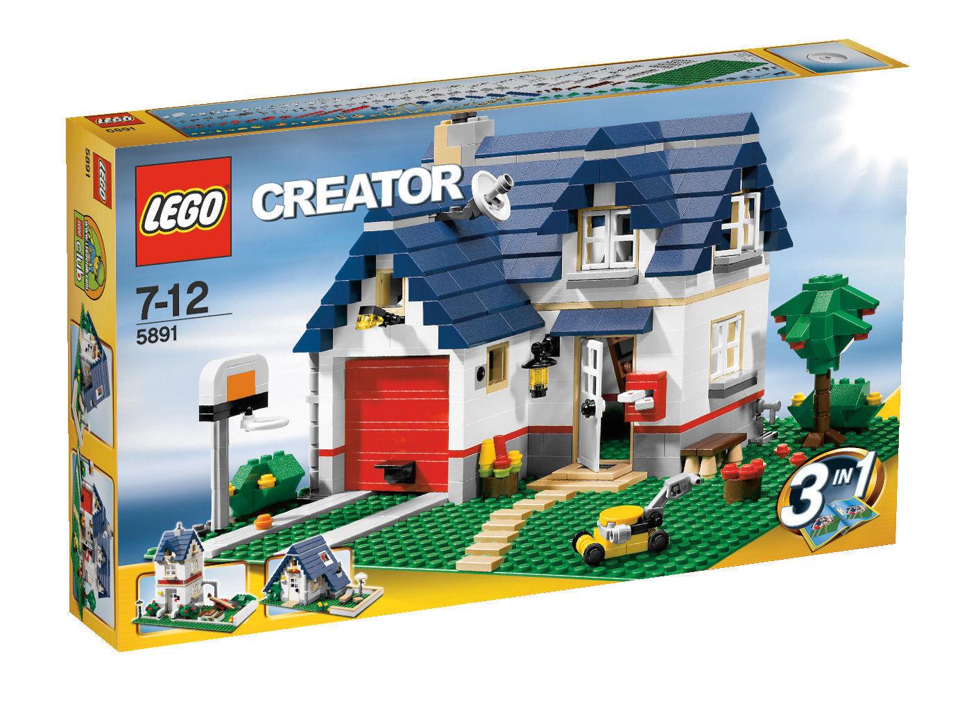 LEGO Creator Maison avec Garage (5891) NEUF & neuf dans sa boîte