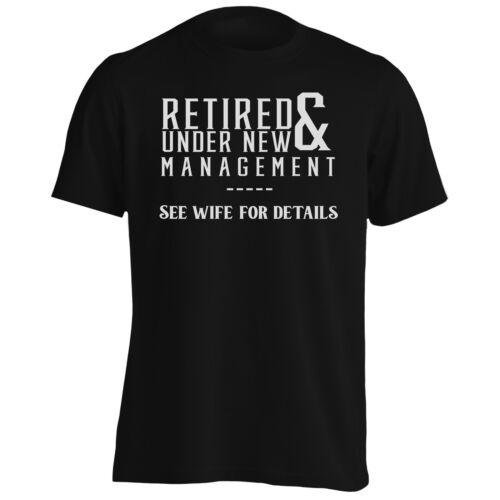 Retired /& Under New Management Men/'s T-Shirt//Tank Top n783m