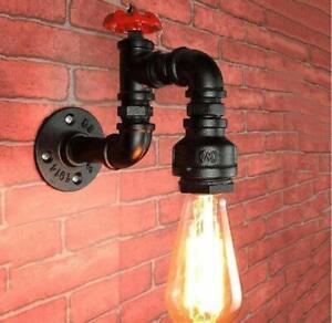 Vintage-Industrial-Rustico-Steampunk-de-Metal-de-Lampara-de-Pared-Luz-de-Techo-Waterpipe-Reino-Unido