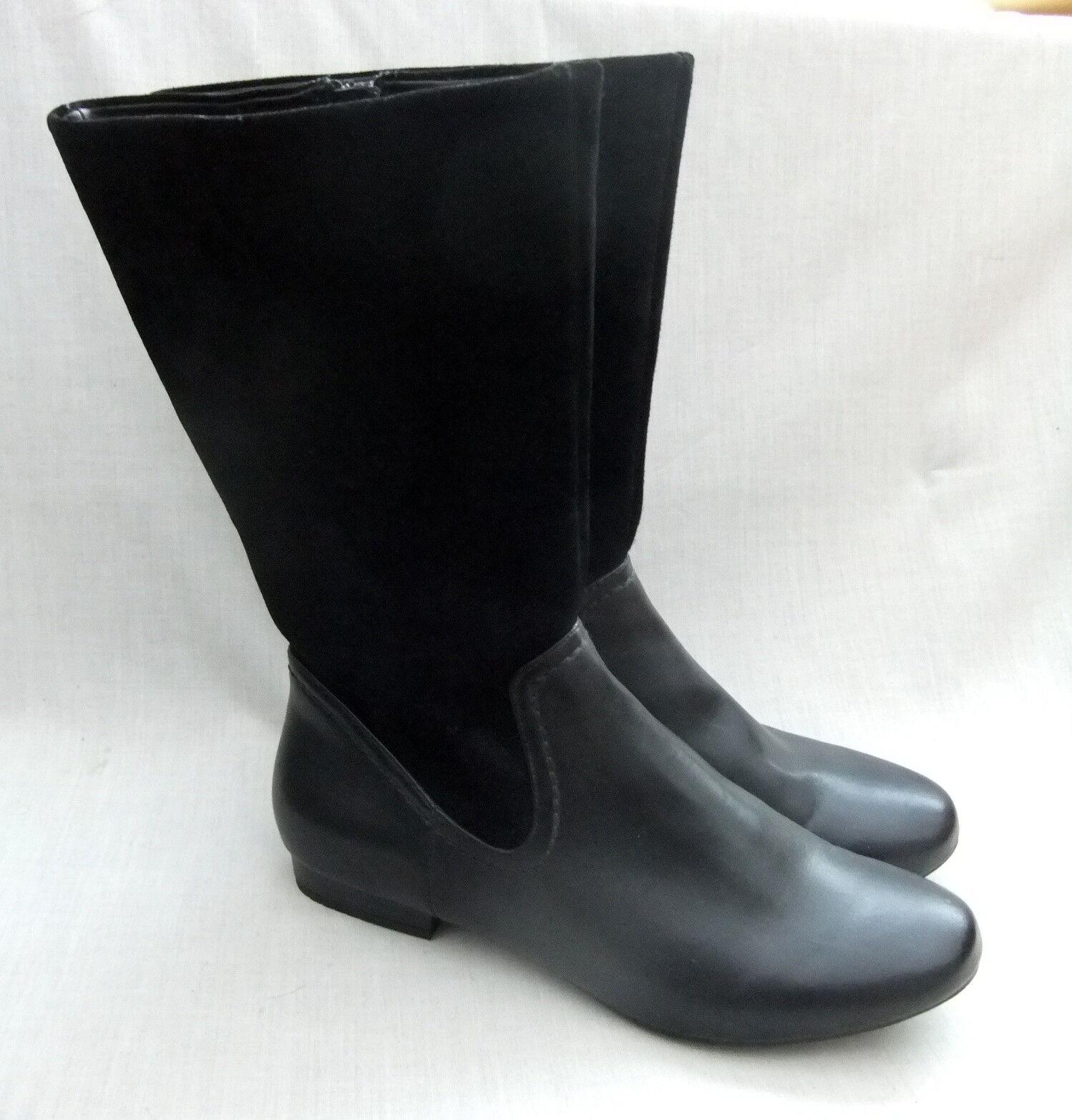 NEW CLARKS MOUNTAIN MIST SUEDE Damenschuhe BLACK LEATHER / SUEDE MIST Stiefel SIZE 7 / 41 845177