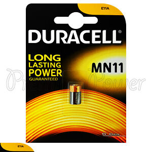 1-x-Duracell-Alkaline-MN11-6V-battery-E11A-A11-WE11-CX21A-L1016-Remote-Alarms