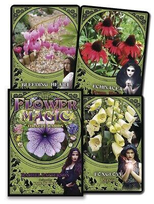FLOWER MAGIC ORACLE CARDS SET Tarot Kit Card Deck flowers ...