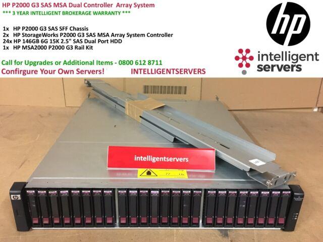HP P2000 G3 SAS MSA Dual Controller 3 5tb Array System With Rails Aw594a