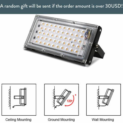 50W Led Flood Light Outdoor Floodlight Spotlight IP65 Waterproof 110V//220V light