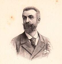 Portrait XIXe Maurice Montégut Poésie Dramaturge Romancier