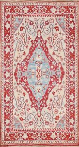 Vegetable-Dye-Floral-Authentic-Oushak-Turkish-Area-Rug-Hand-knotted-4-039-x6-039-Carpet