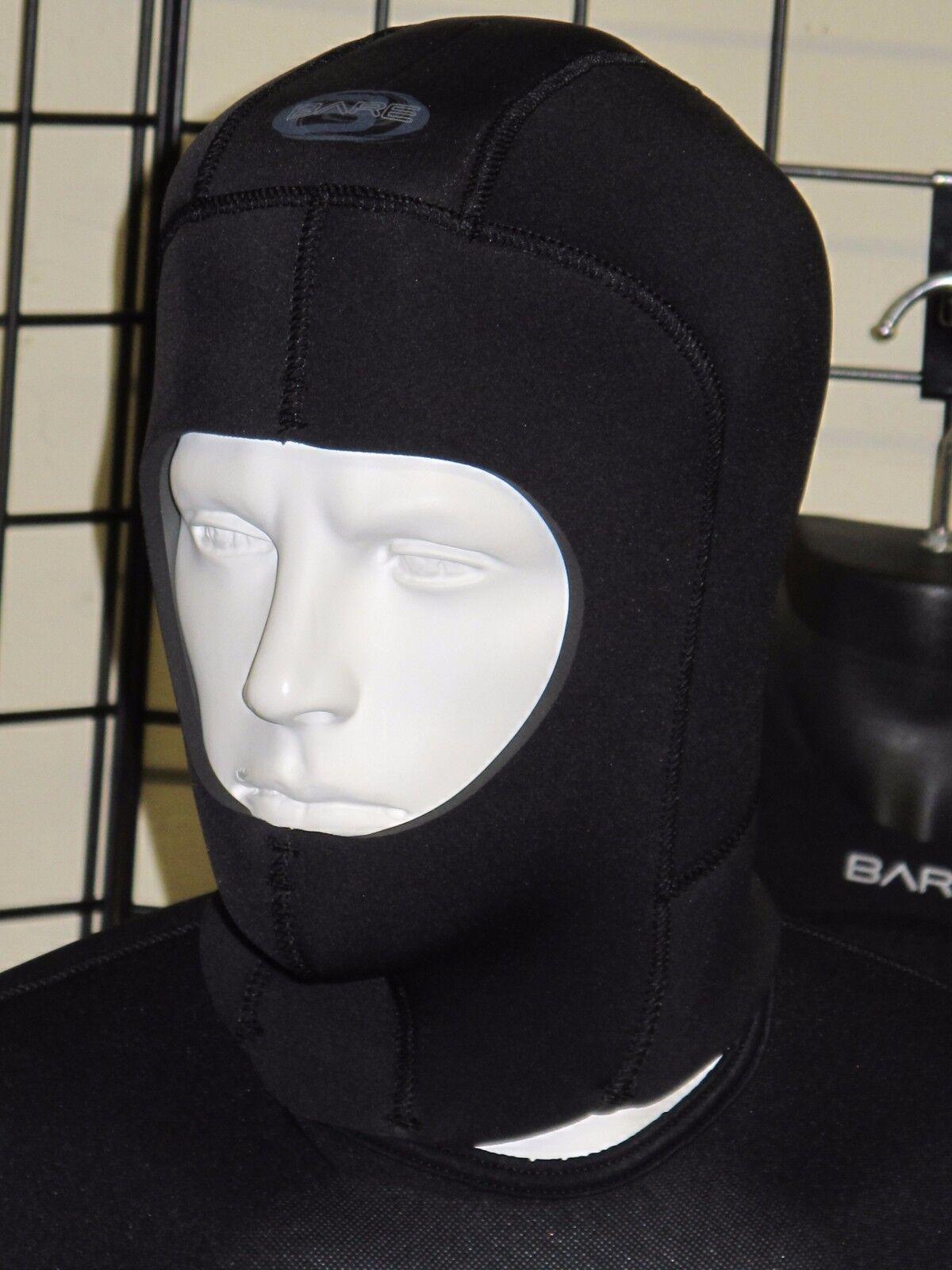 Bare Elastek 7mm neosprene Drysuit style Scuba Diving Hood
