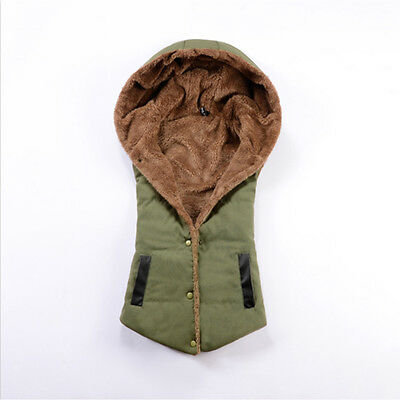 2016 Winter Womens Slim Down Cotton Jacket Sleeveless Coat Hooded Vest Waistcoat