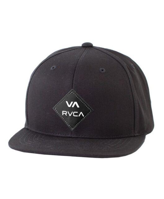 RVCA Men s Suede Delux Snapback Cap Mens Hats Beanies Headwear Black ... c5e850f8e93