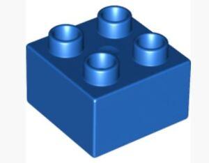 lego duplo brick 2X2 2X4 transparent translucent blue bob the builder