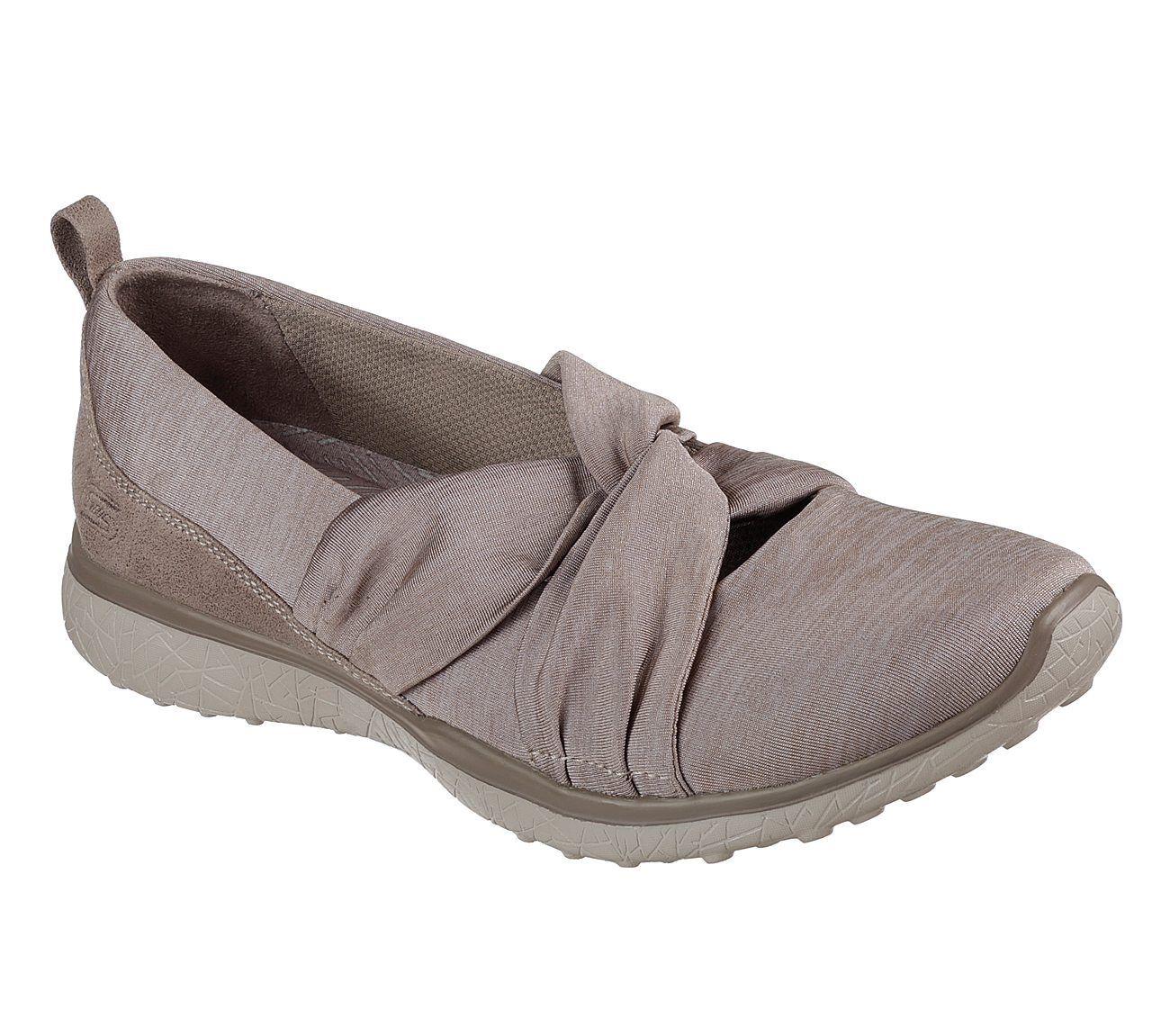 NUOVO Skechers Da Da Da Donna scarpe da ginnastica Scarpe da ginnastica Mary Jane microburst Knot concerned GRIGIO 1e3399