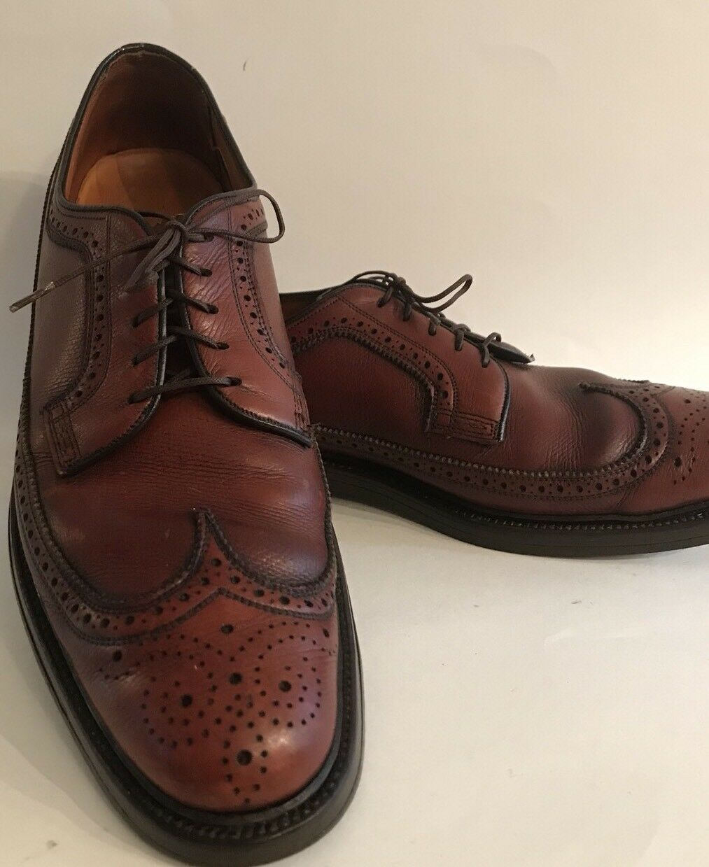 Florsheim royal Imperial Bout D'Aile marron 11 AA Narrow 5 Nail V-cale chaussures homme