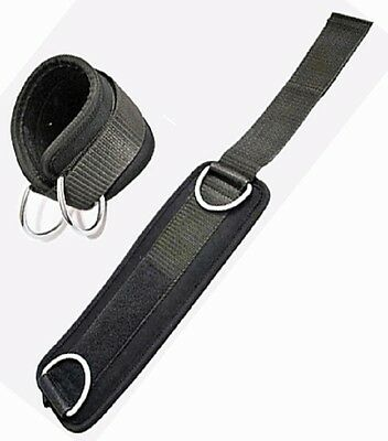 Ankle Twin D-ring Strap Multi Gym Cable Attachment Leg Thigh Pulley Lifting Pair Exquisite Handwerkskunst;