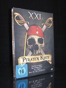DVD PIRATENKISTE XXL - 3 FILME + DOKU - PIRATEN DER KARIBIK + JOLLY ROGER * NEU