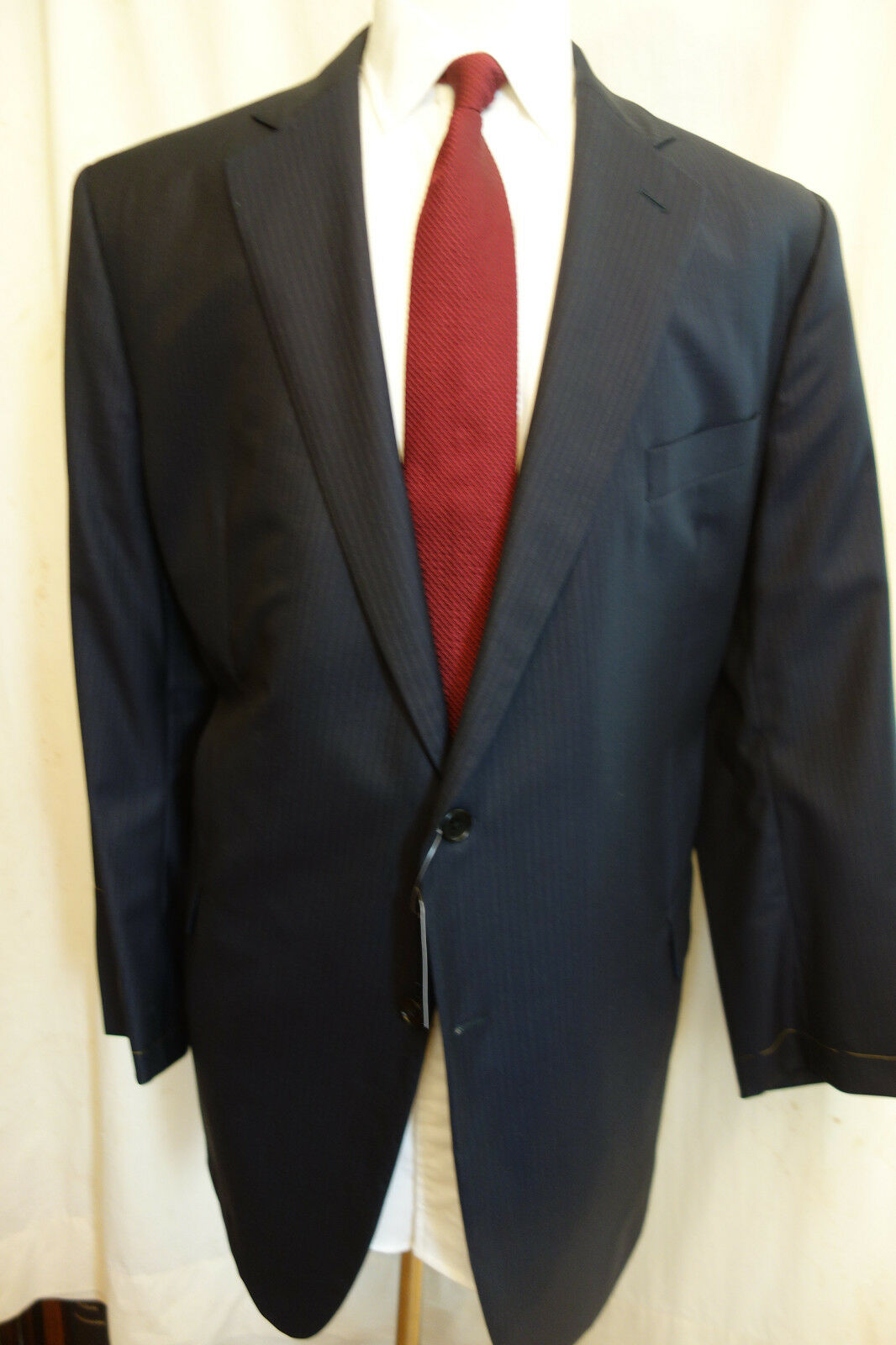 NWOT Brooks Brothers Golden Fleece Blau Pinstripe Sport Coat 46L