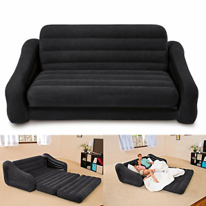 Details about Queen Size Inflatable Bed Couch Bed Sofa Sectional Sleeper  Futon Pull-out Sofa