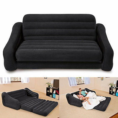 Swell Queen Size Inflatable Bed Couch Bed Sofa Sectional Sleeper Futon Pull Out Sofa Ebay Camellatalisay Diy Chair Ideas Camellatalisaycom